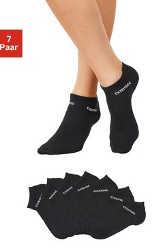 chiemsee sneakersokken met ingebreid logo (7 paar) zwart