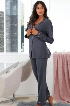lascana pyjama in klassiek model grijs