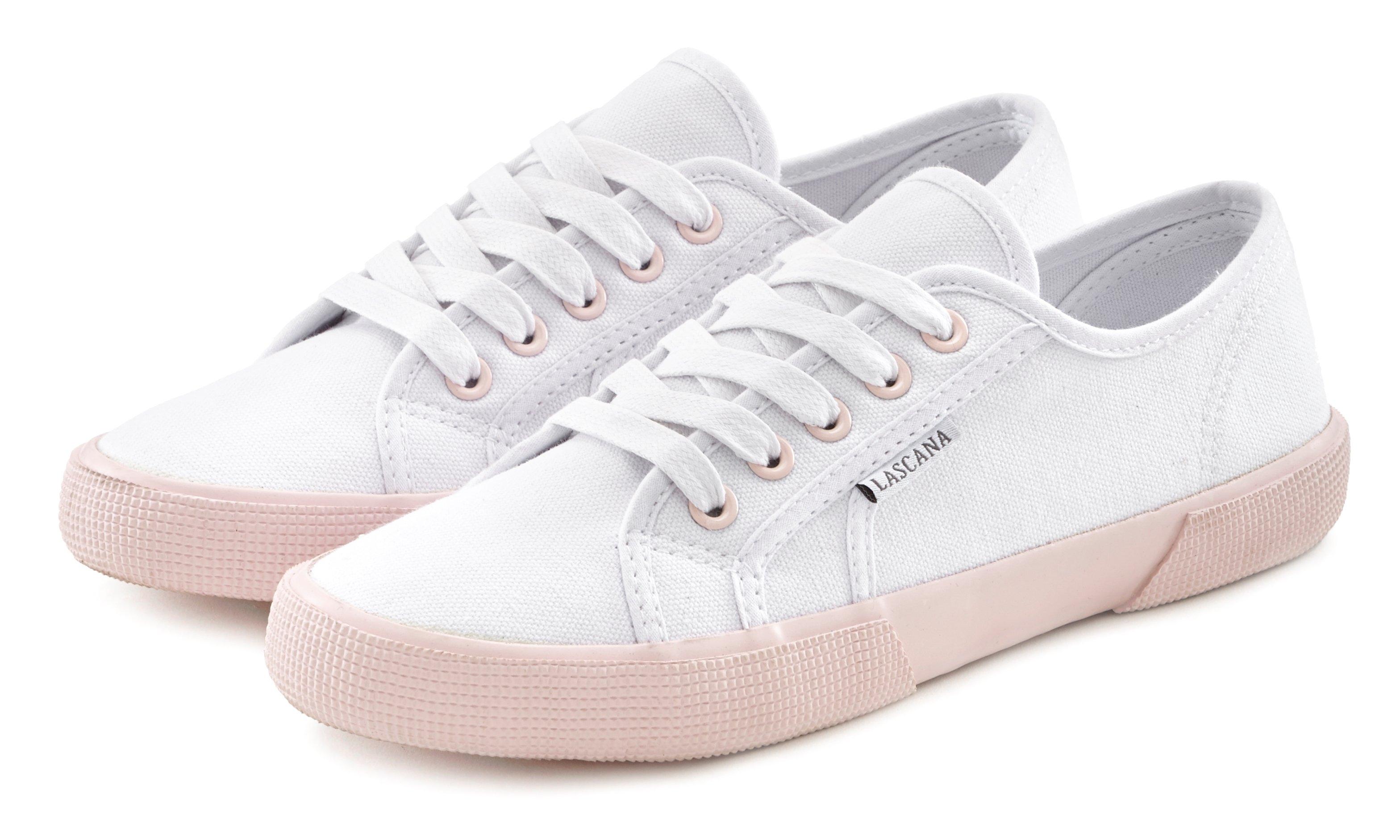 Lascana sneakers met contrastkleurige zool in de webshop van Lascana kopen