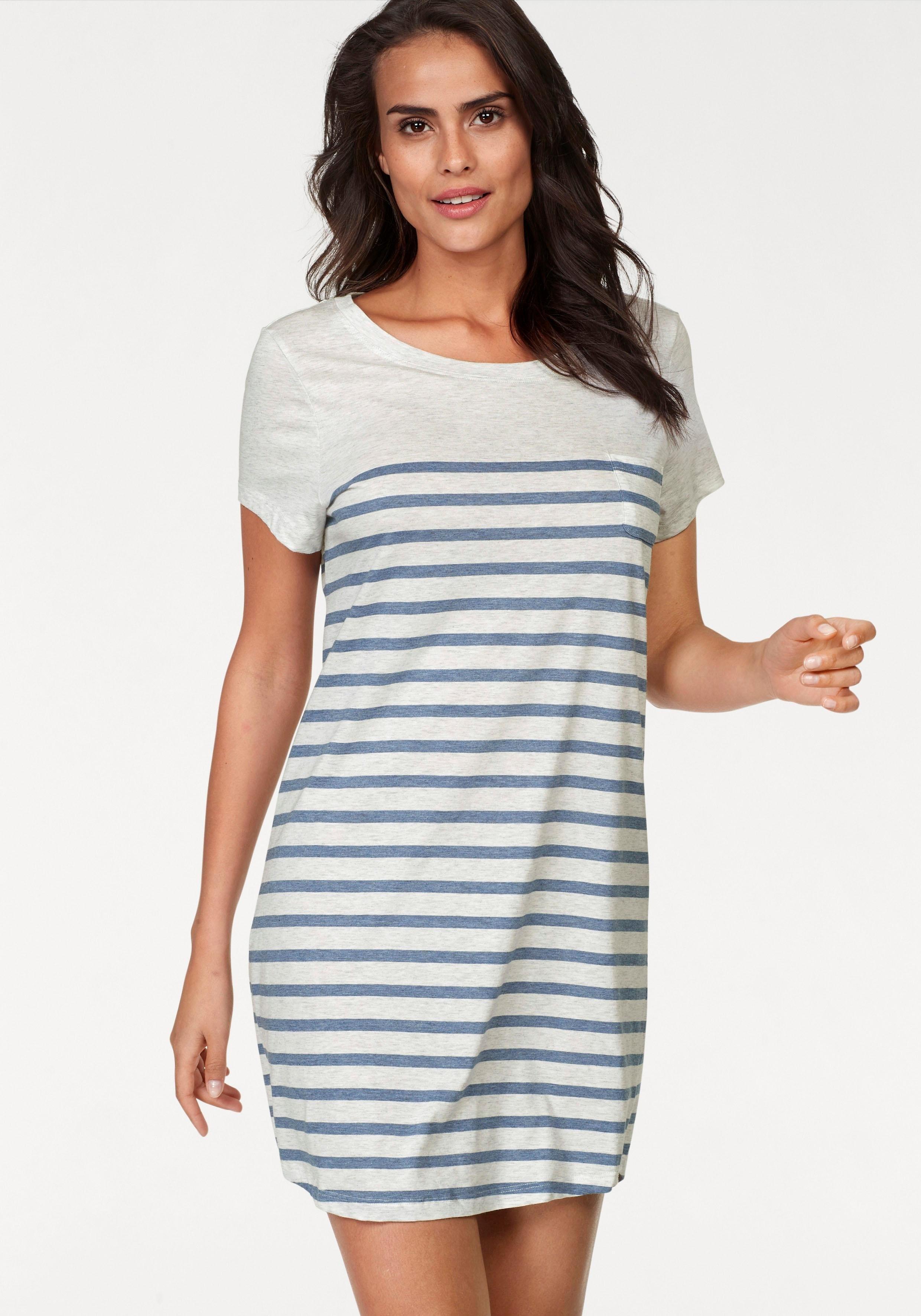 Marc O'Polo nachthemd met streepdessin bij Lascana online kopen