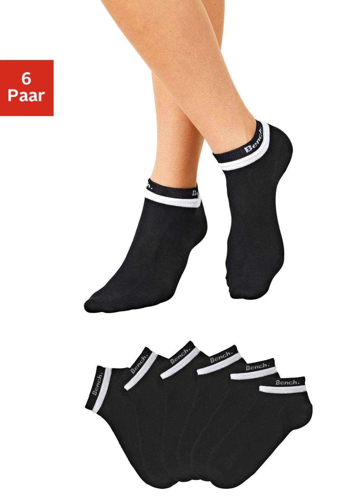 Bench. korte sokken (6 paar) met dubbel verwerkte boord online kopen op lascana.nl
