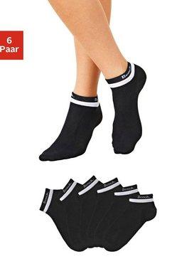 bench. korte sokken met dubbele boord (6 paar) zwart