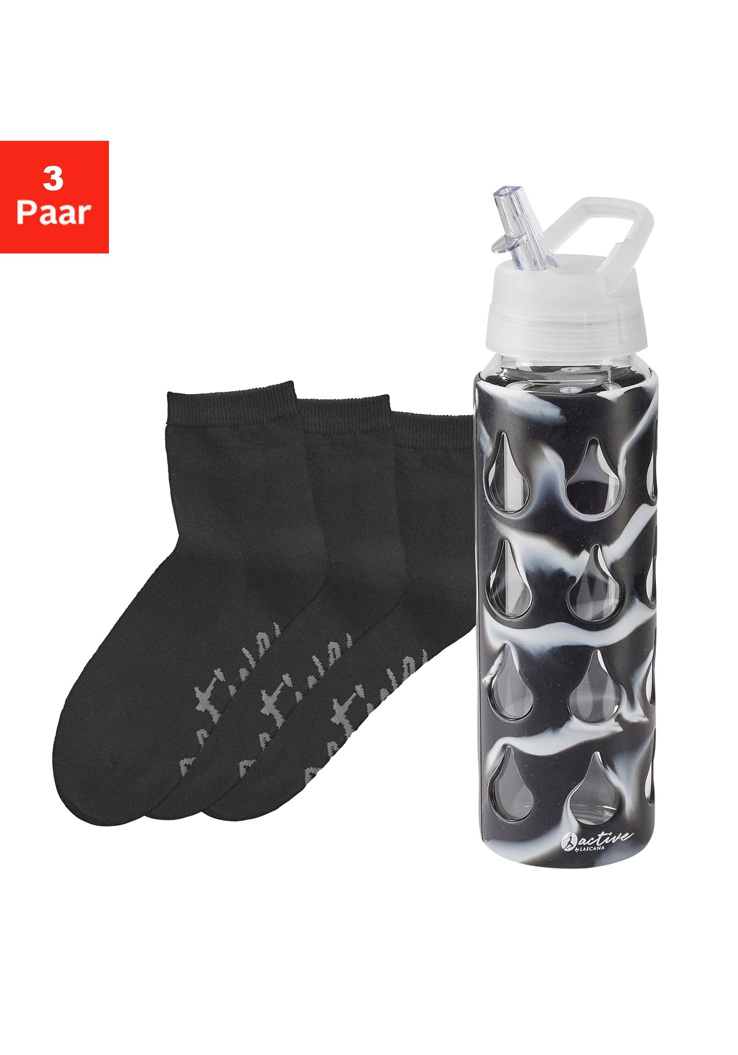 Lascana Active active by LASCANA korte sokken (3 paar) met bidon nu online kopen bij Lascana