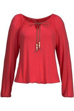 s.oliver red label beachwear strandshirt rood