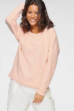 venice beach sweatshirt met afhangende schouders roze