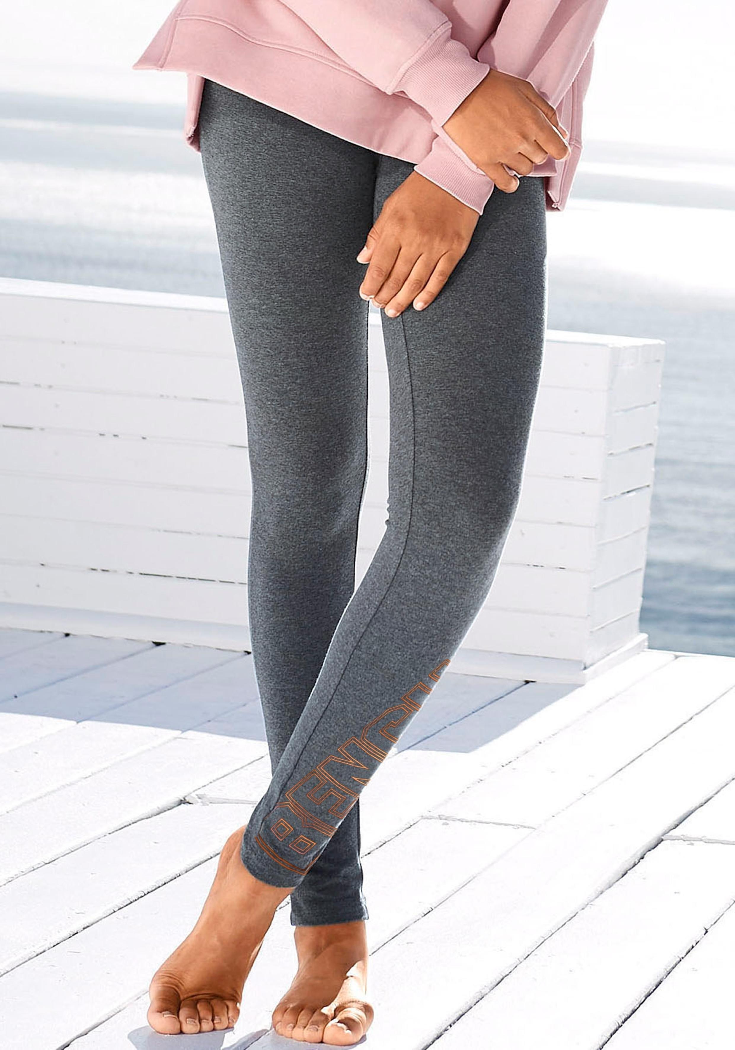 Bench. legging met glanzende logoprint nu online kopen bij Lascana