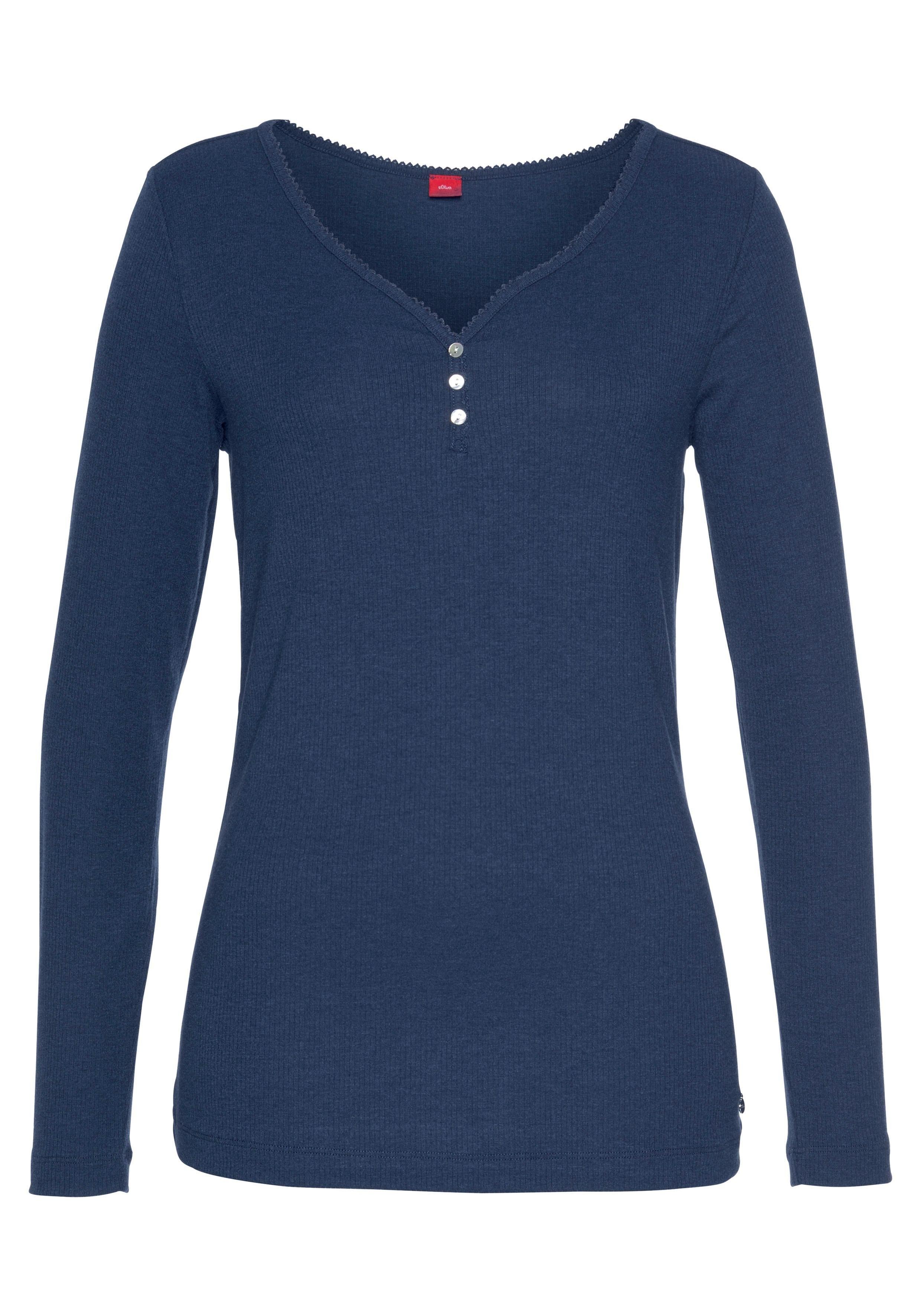 S.oliver Bodywear s.Oliver RED LABEL Bodywear shirt met lange mouwen veilig op lascana.nl kopen