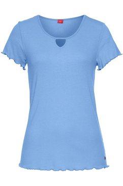 s.oliver red label bodywear shirt met korte mouwen blauw