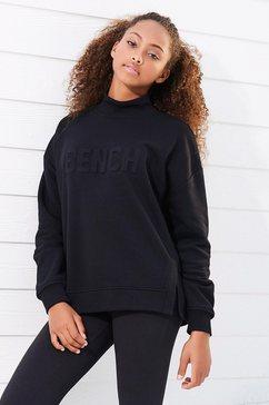 bench. sweatshirt met zijsplitten zwart