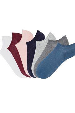 arizona sneakersokken met smalle ribboordjes (7 paar) multicolor