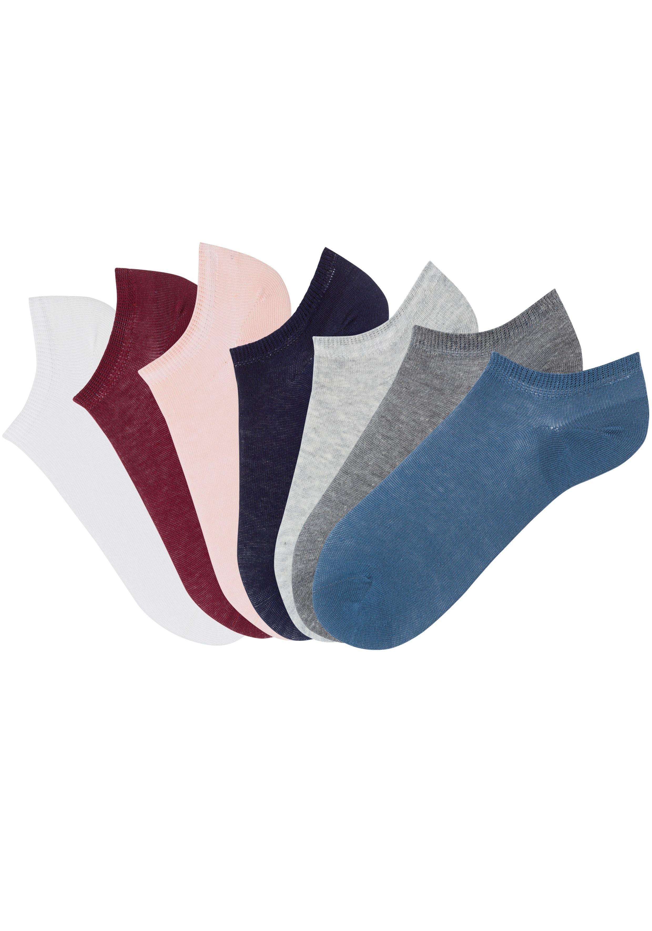 ARIZONA sneakersokken (set van 7 paar) in verschillende kleuren online kopen op lascana.nl
