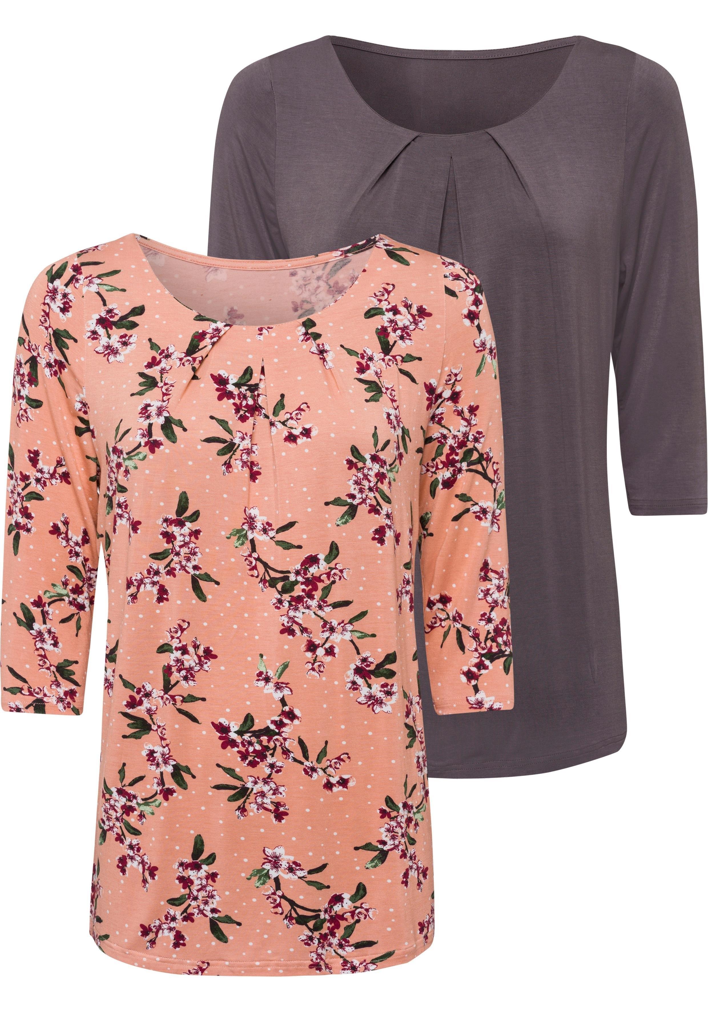 LASCANA shirt, set van 2 - gratis ruilen op lascana.nl
