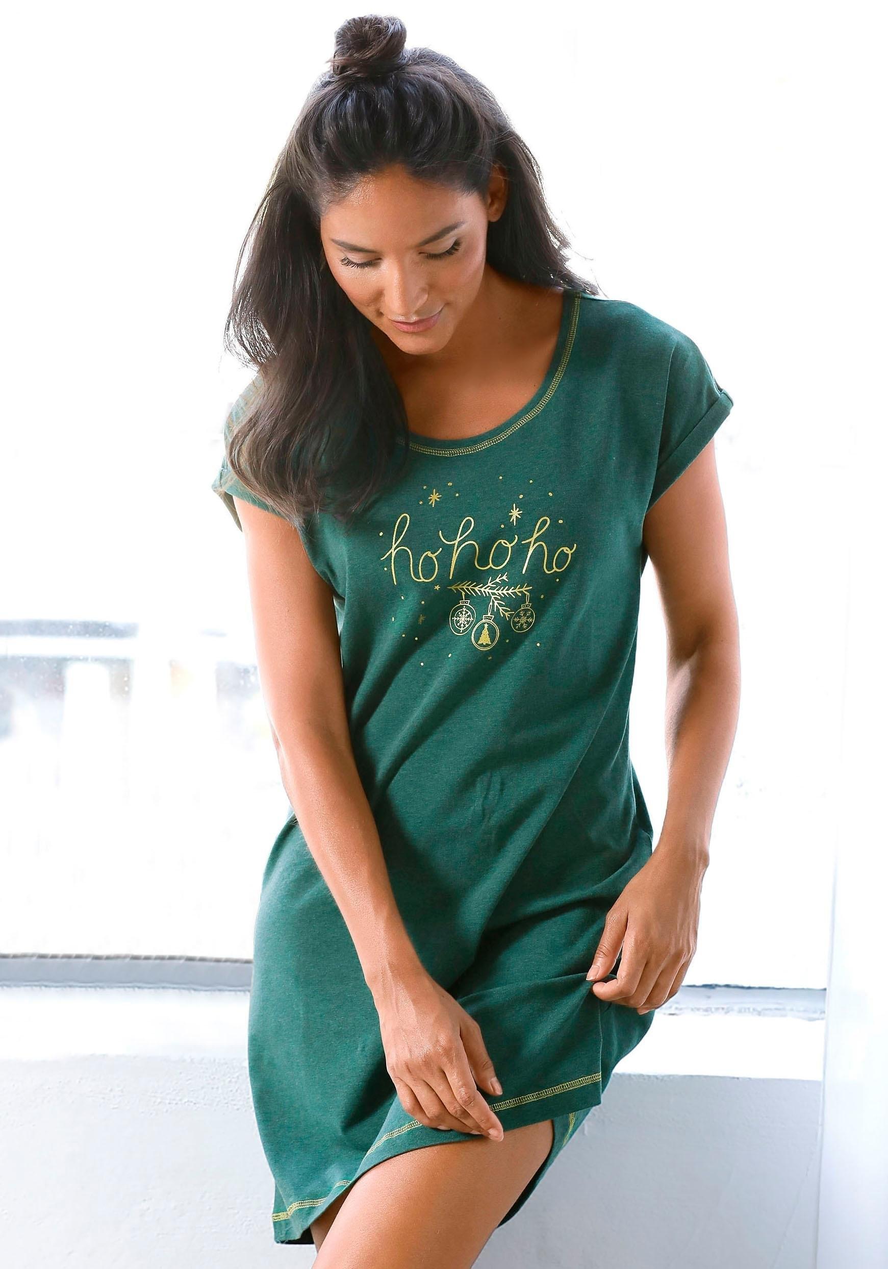 LASCANA big-shirt met kerstmotief bij Lascana online kopen