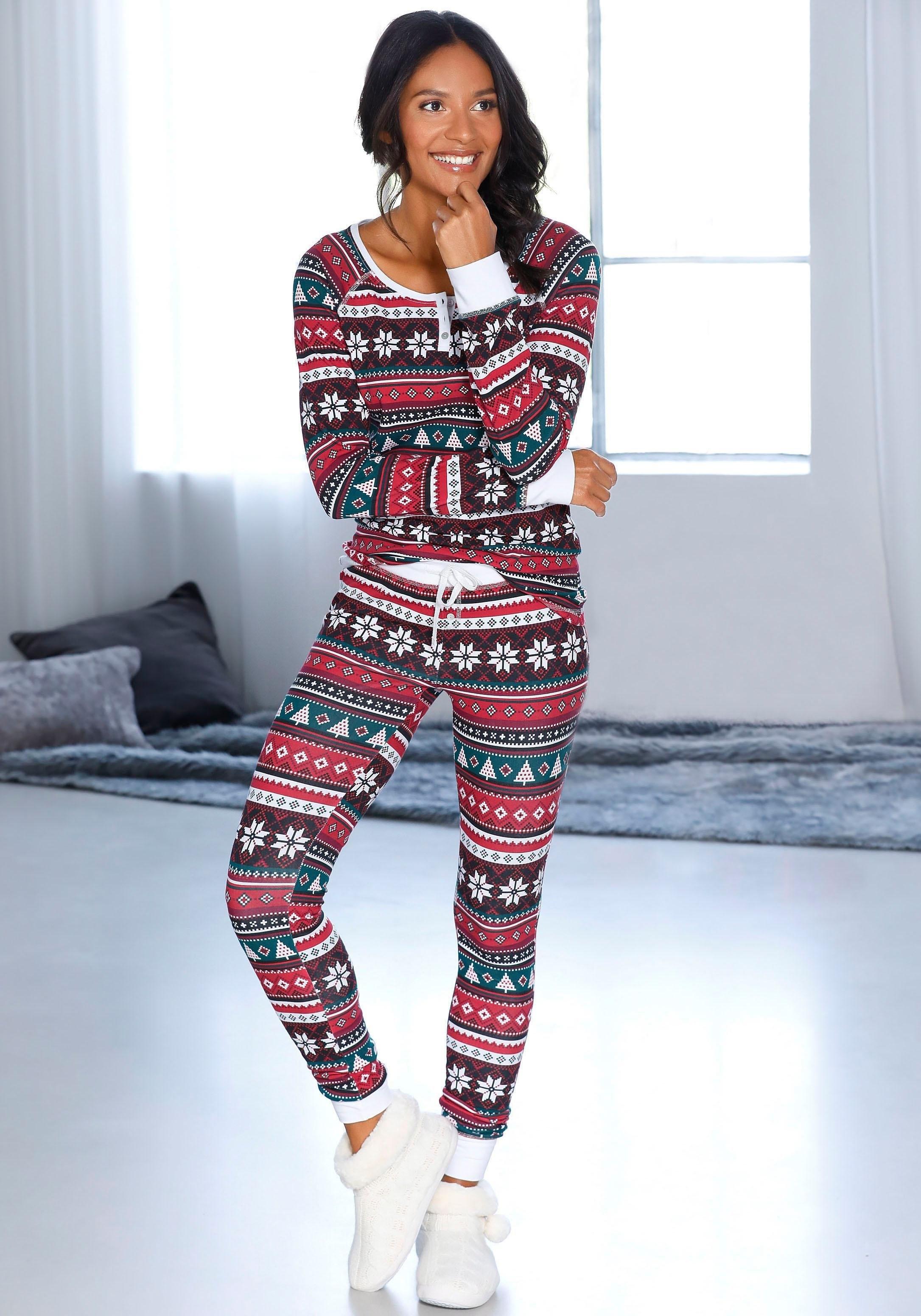 LASCANA pyjama met kerstmotief in de webshop van Lascana kopen