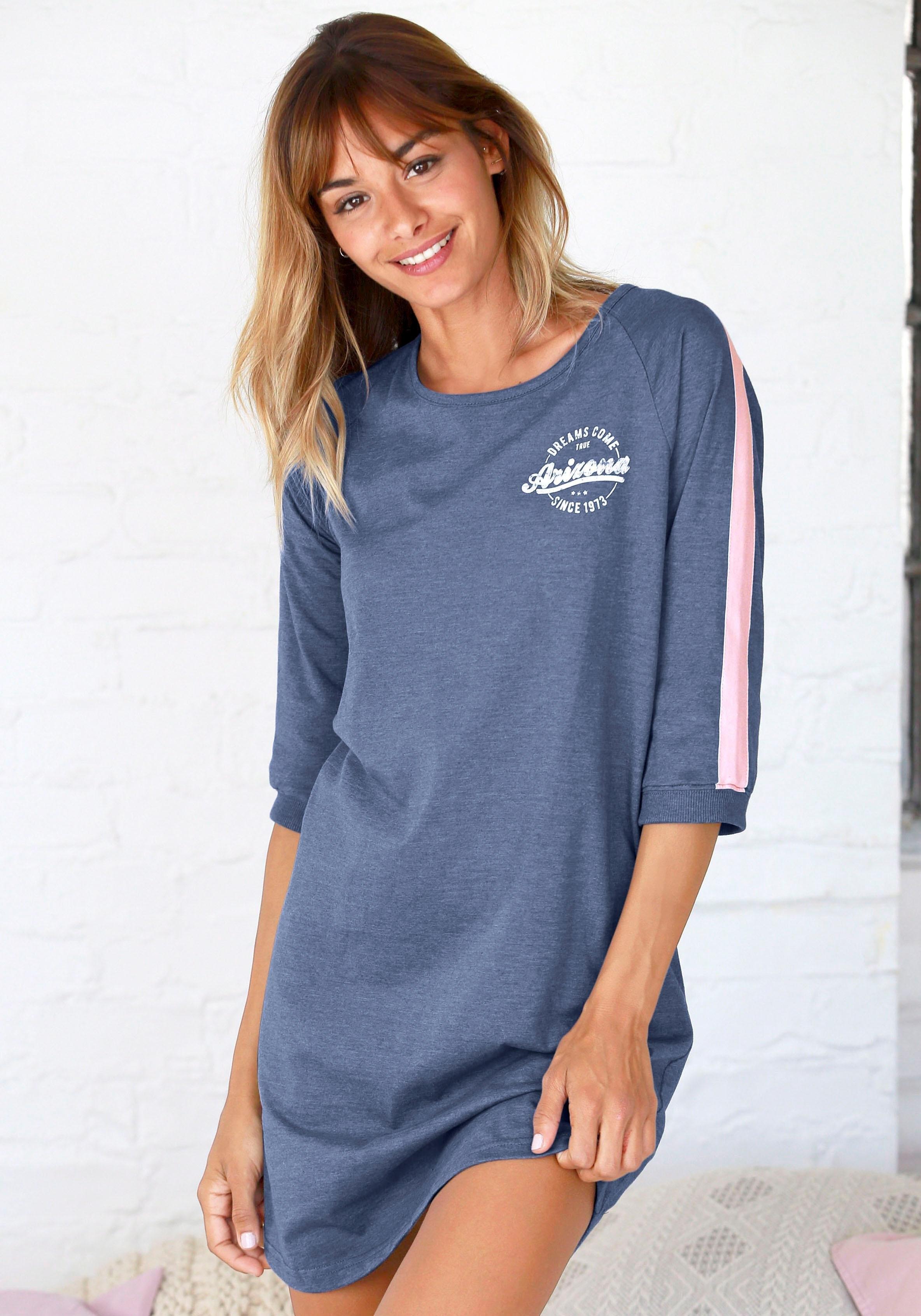 Op zoek naar een ARIZONA nachthemd in college-look met folieprint? Koop online bij Lascana