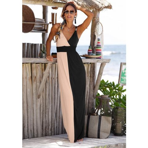 LASCANA maxi-jurk in colourblocking-stijl