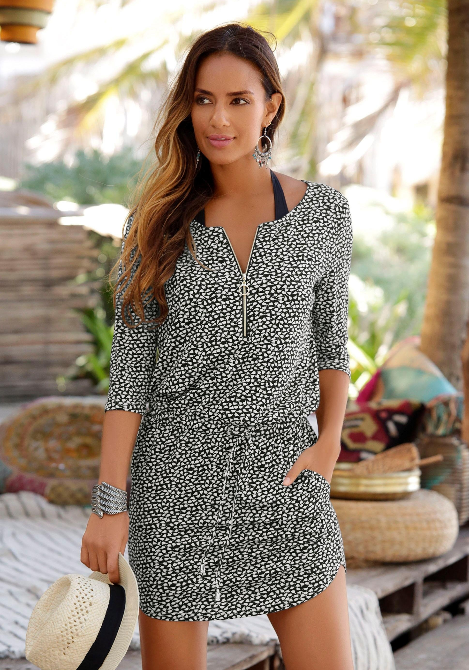 s.Oliver RED LABEL Beachwear s.Oliver Beachwear zomerjurk goedkoop op lascana.nl kopen