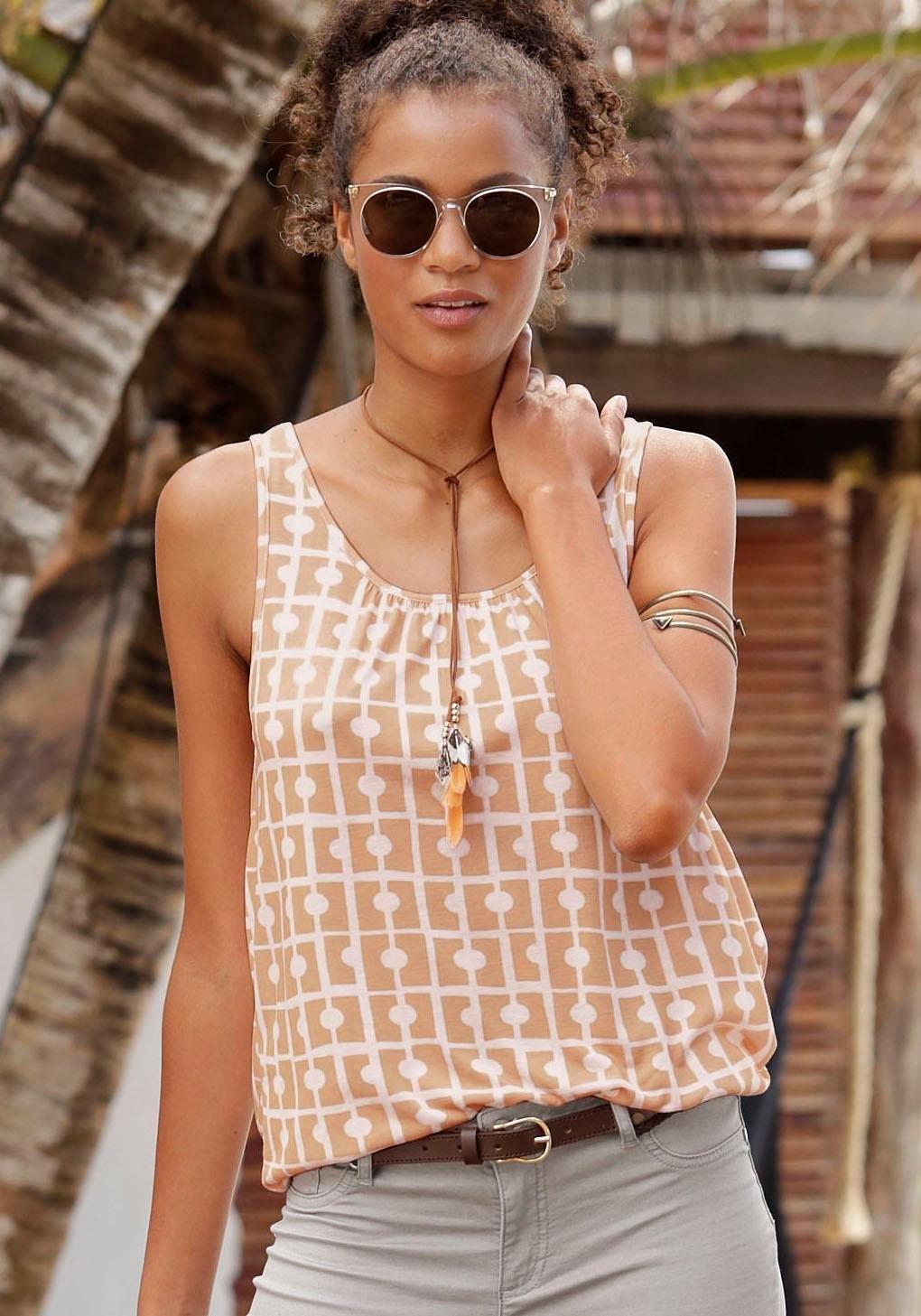 beachtime strandtop met sierlijke halslijn achter nu online kopen bij Lascana