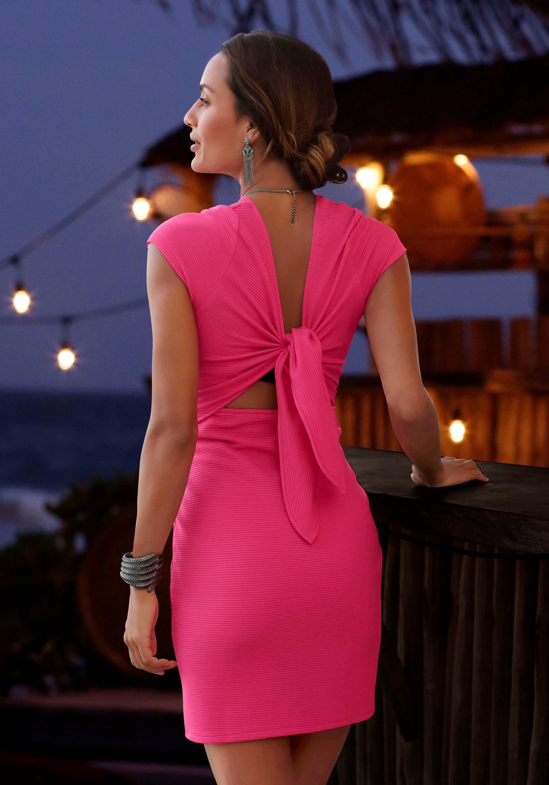 LASCANA party-jurk van elastisch ribmateriaal nu online kopen bij Lascana