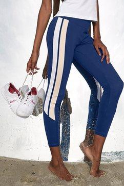 active by lascana 7-8-legging met strepen opzij blauw