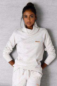 bench. sweatshirt met een opstaande kraag in layer-look beige