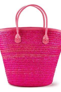 lascana strandtas in schitterende kleuren roze