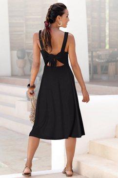 lascana midi-jurk zwart