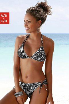 lascana triangel-bikinitop safari in de patroonmix zwart