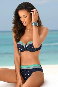 lascana bikinibroekje monroe iets hoger geknipt model. blauw