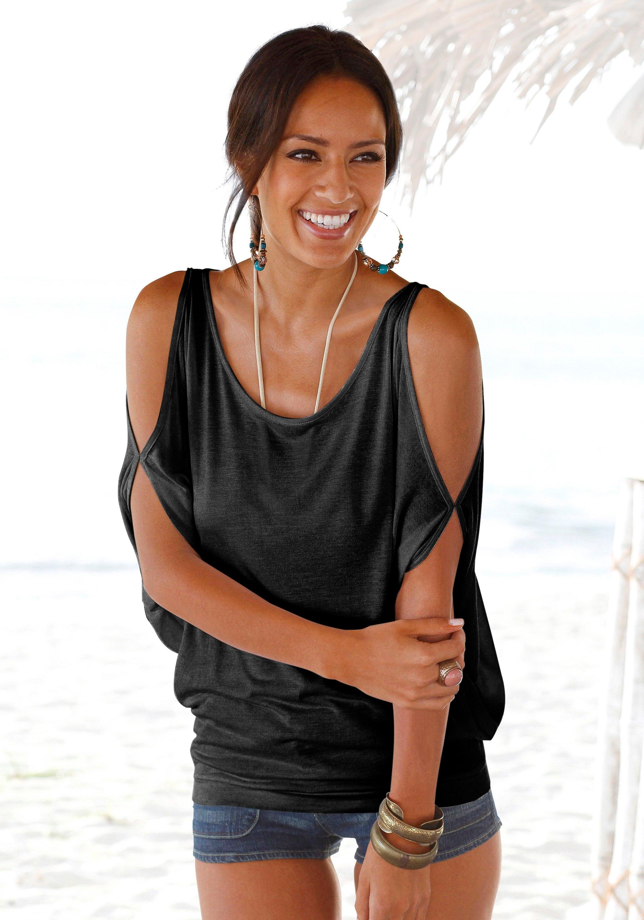 Lascana strandshirt met schoudersplitten nu online bestellen