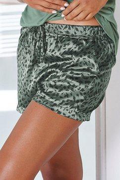 lascana pyjamashort groen