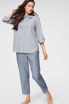seidensticker pyjama blauw