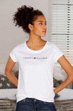 tommy hilfiger t-shirt modern cotton met logoprint voor wit