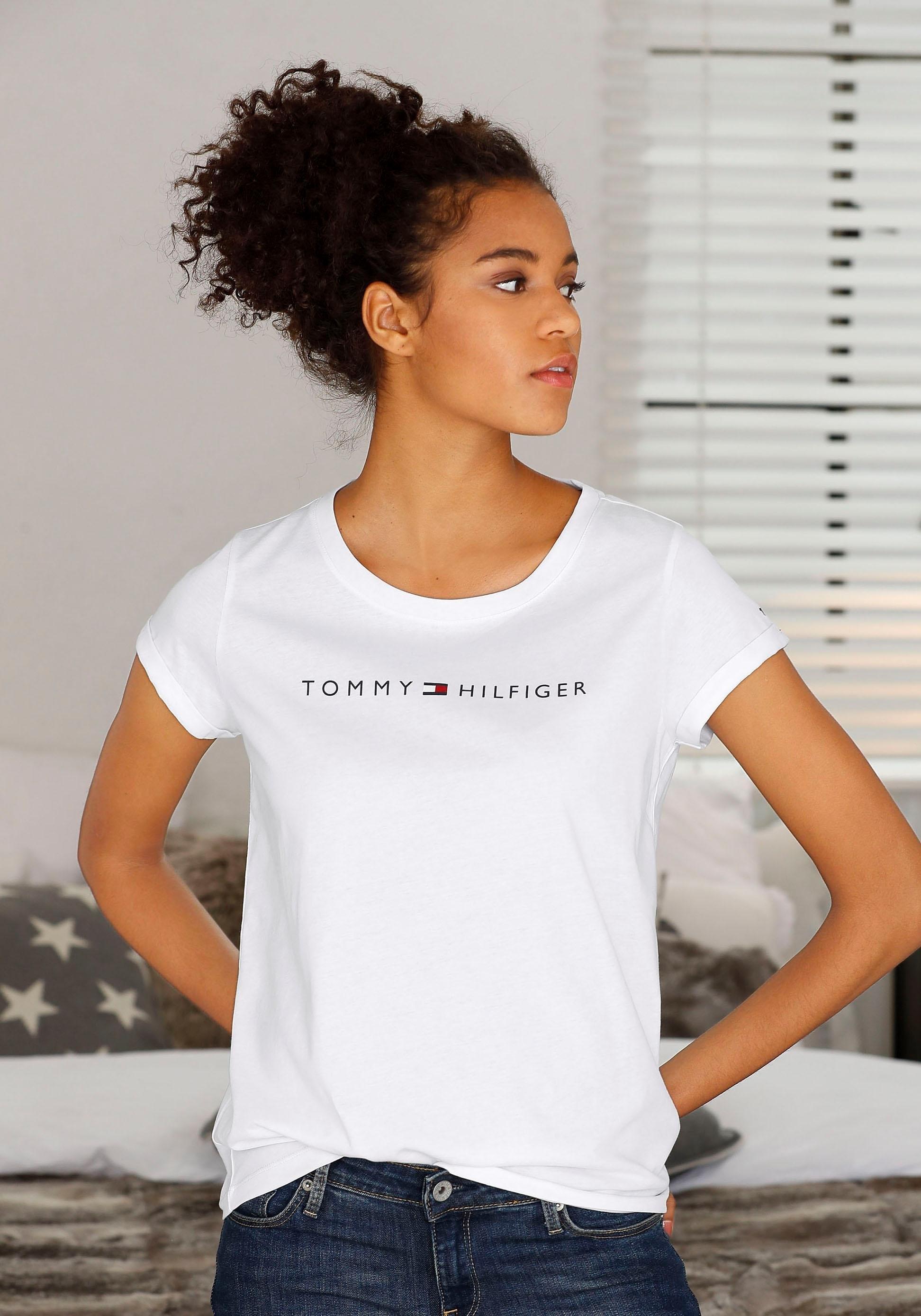Tommy Hilfiger T-shirt Modern Cotton met logoprint voor bij Lascana online kopen