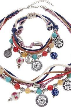 lascana ketting en armband (2-delige set) blauw
