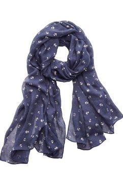 lascana sjaal met ankers blauw