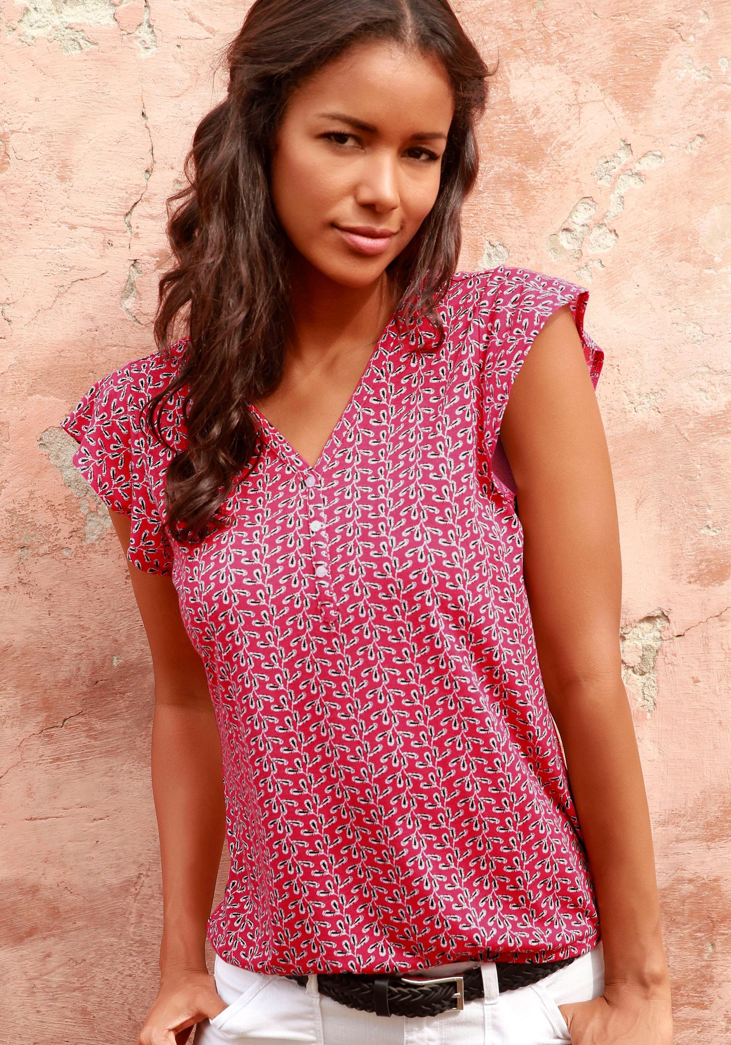 Lascana shirttop met kapmouwtjes (Set van 2) bij Lascana online kopen