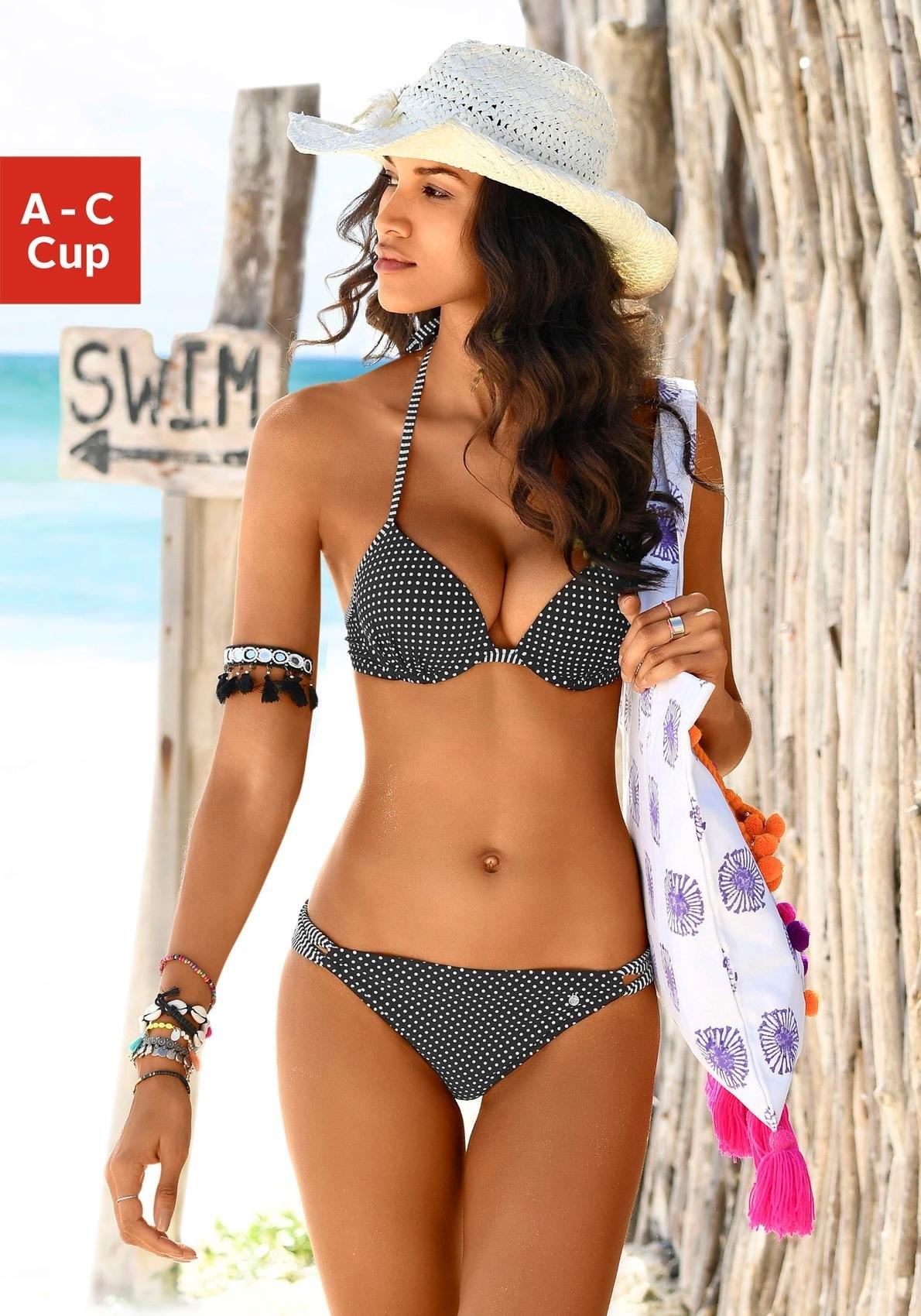 s.Oliver Beachwear s.Oliver RED LABEL Beachwear push-uptop in de webshop van Lascana kopen