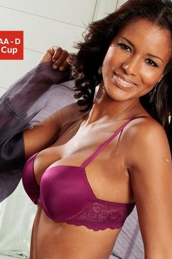 lascana push-upbeha met eenvoudige cups en achter van kant paars