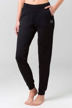 active by lascana joggingbroek zwart