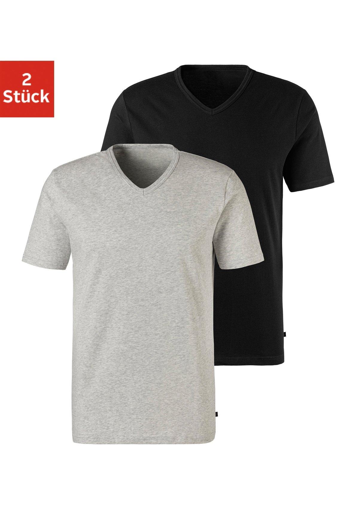 H.I.S shirt voor eronder met v-hals en klein logo (2 stuks) nu online bestellen