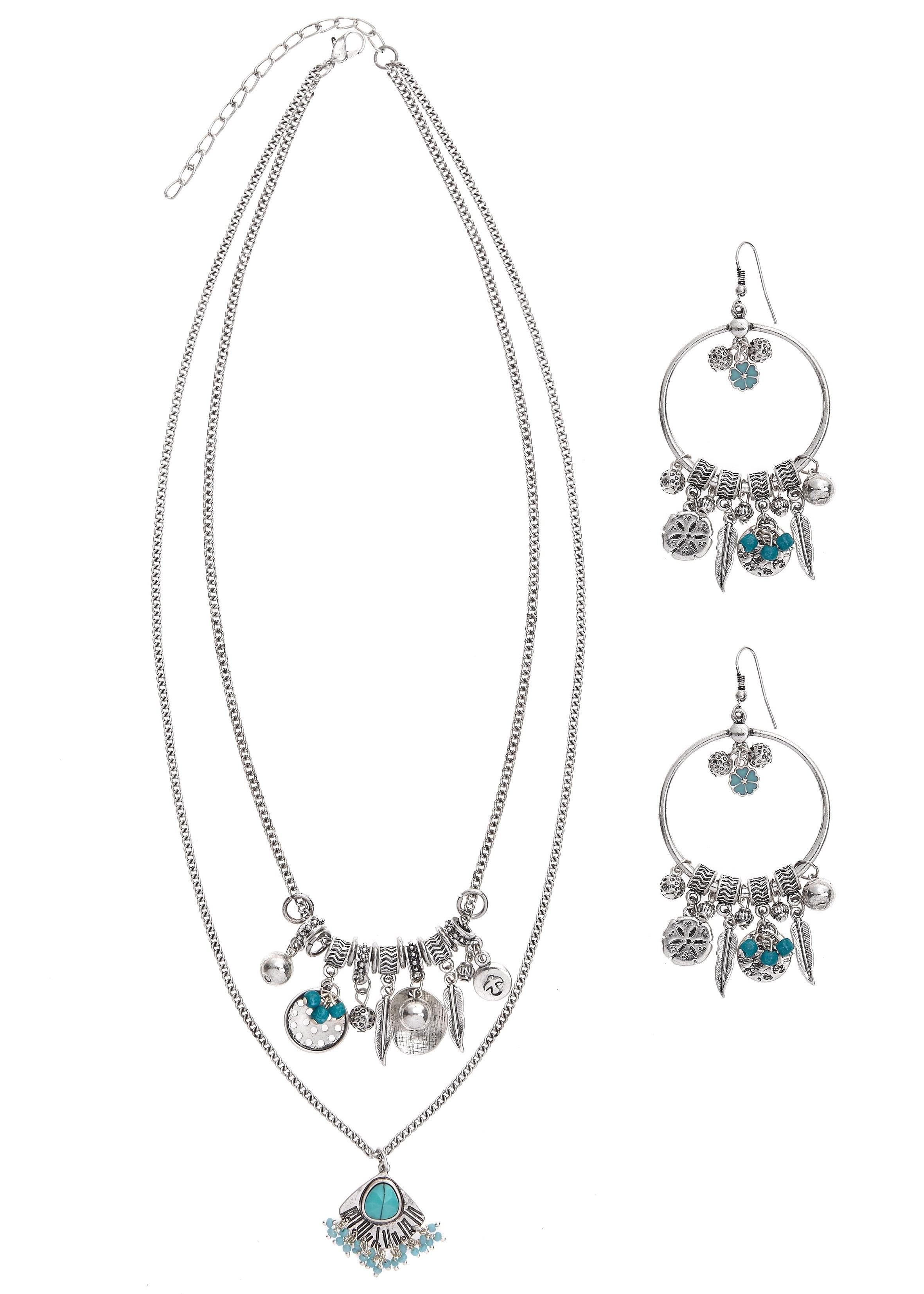 Lascana sieradenset Oorring en ketting set met hangers - verschillende betaalmethodes