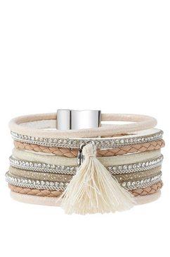 lascana armband met magneetsluiting roze