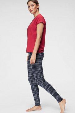 tommy hilfiger pyjama met gedessineerde legging rood