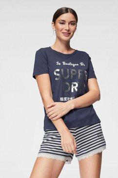 superdry shortama »emma lace« blauw