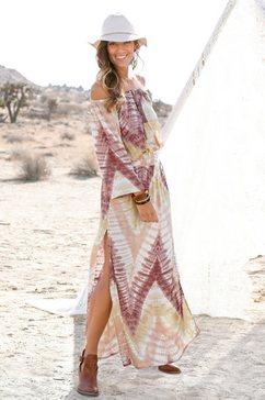 lascana maxi-jurk beige