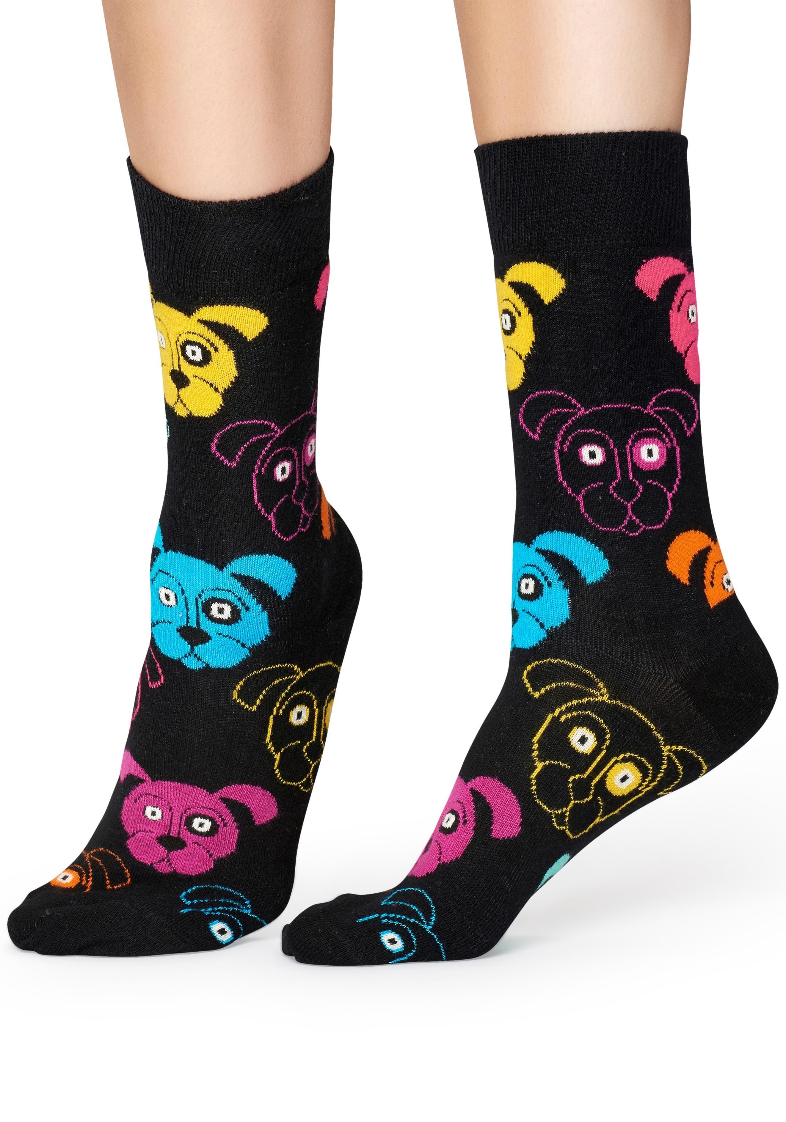 Happy Socks Sokken Dog met kleurrijke hondengezichten goedkoop op lascana.nl kopen
