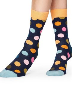 happy socks sokken big dots blauw