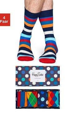 happy socks sokken met verschillende motieven in een box (box, 4 paar) multicolor