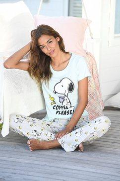 snoopy pyjama groen